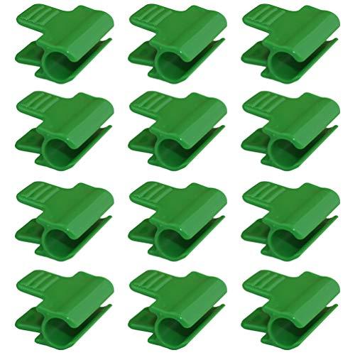 Artibetter 24 Piezas Clips de Abrazaderas de Invernadero Cubierta de Fila Cobertizo Película Sombreado Clip de Varilla de Red Clips de Aro de Túnel de Red para Invernaderos Marcos de