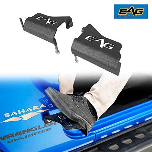 EAG Foot Peg Rest Pedal Pair Fit for 2007-2018 Wrangler JK JKU 18-21 Wrangler JL JLU -  JJKML012