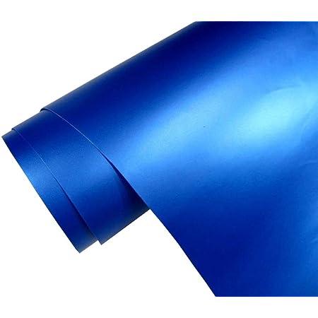 5 M2 Auto Folie Matt Blau Metallic Matt 50 X 150 Cm Blasenfrei Car Wrapping Klebefolie Dekor Folie Auto
