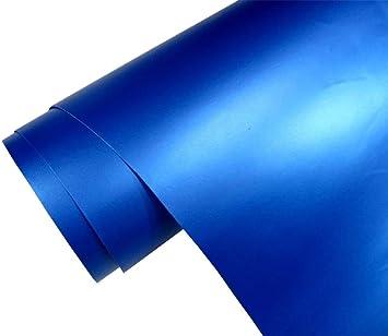 Neoxxim 5 M2 Auto Folie Matt Blau Metallic Matt 50 X 150 Cm Klebefolie Dekor Folie Dehnbar Auch Für Möbel Auto
