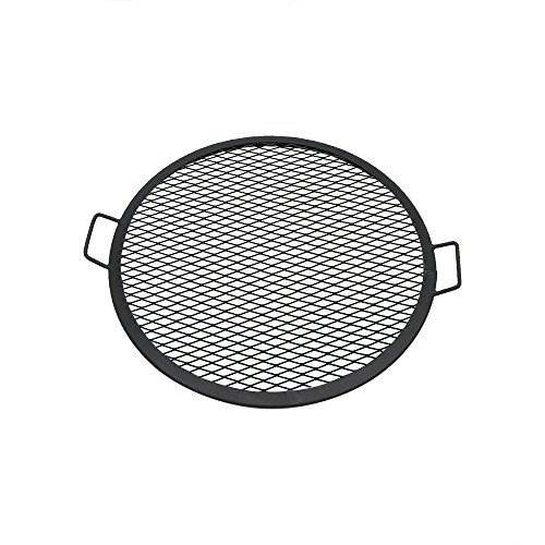 Sunnydaze X-Marks Fire Pit Cooking Grate - Outdoor Round Campfire BBQ Rack - Campfire Cooking Grill - Portable Outside Camping Cookware - Heavy-Duty Steel Construction - 24-Inch