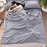 Camping Sleeping Bag Liner Lightweight Portable Clean Travel Sheet Sack for Hotel Train Trip Hiking Camping Outdoor...