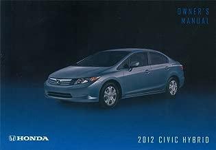 bishko automotive literature 2012 Honda Civic Hybrid Owners Manual User Guide Reference Operator Book Fuses