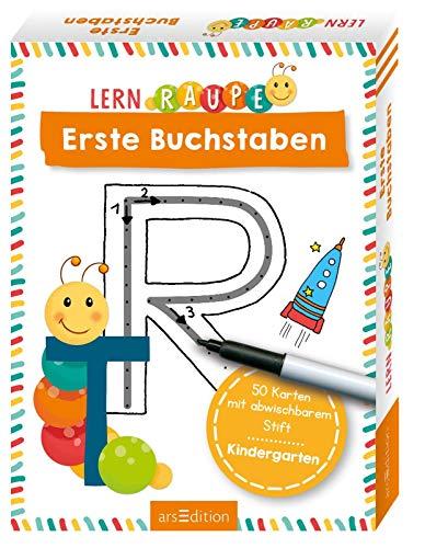 Lernraupe - Erste Buchstaben: 50 Karten mit abwischbarem Stift
