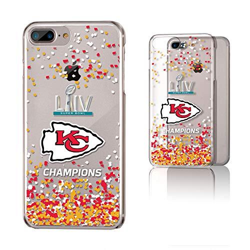 Strategic Printing Kansas City Chiefs Super Bowl LIV Champions iPhone Clear Confetti Design Case