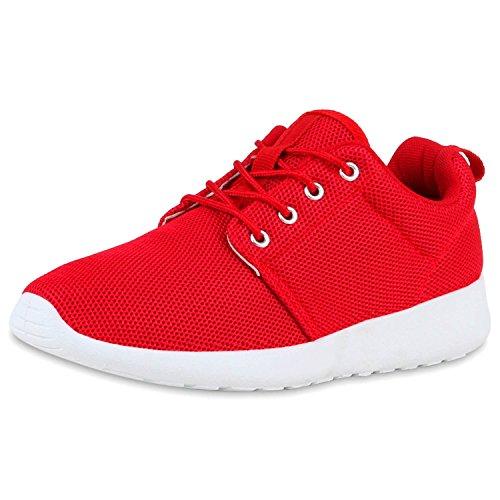 SCARPE VITA Damen Sportschuhe Trendfarben Runners Sneakers Laufschuhe 165341 Rot 38