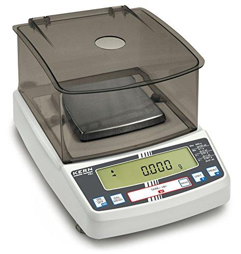 Kern PBJ 620-3M - Balanza de precisión, Balanza de laboratorio multifuncional con sistema de pesaje Single-Cell y aprobación de homologación [M], Campo de pesaje [Max]: 620 g, Lectura [d]: 0,0
