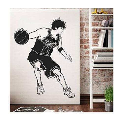 xingzhi DIY Vinyl Cartoon Slamdunk Flow Chuan Ahorn Wandaufkleber, Schlafzimmer Wohnheim Basketball Klassenzimmer Dekorative Aufkleber S 75X58 cm