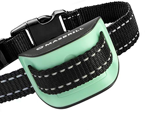 MASBRILL Dog Bark Collar Safe No Bark Control Device for Tiny Small Medium Dog Stop Barking by Sound and Vibration No Shock Human Way for Dog Lovers