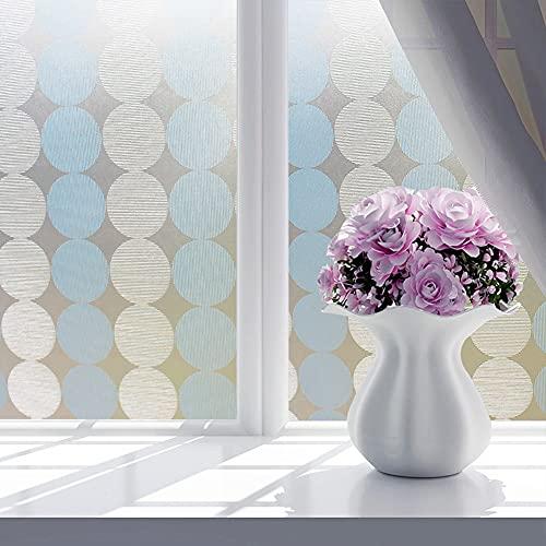 LMKJ Pegatina de Vidrio para el hogar Cubierta de PVC Privacidad Extraíble Película de Ventana Simple Oficina Decorativa Protector Solar Esmerilado Baño Arte de la Pared F 30x200cm