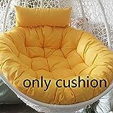 Papasan Chair Cushion, Solid Color Overstuffed Swing Hanging Egg Hammock Oversized Seat Cushioning