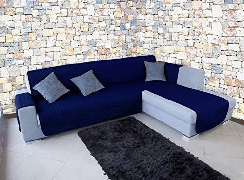 Banzaii Funda Cubre Chaise Longue Anti-Sucio, Antimanchas y Impermeable y antipelo Azul 3 Plazas Chaise Izquerdo