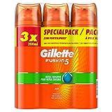 Gillette Fusion 5 Rasiergel Männer, Ultra Sensitive, schützt und kühlt die Haut, 3er Pack (3 x 200 ml)