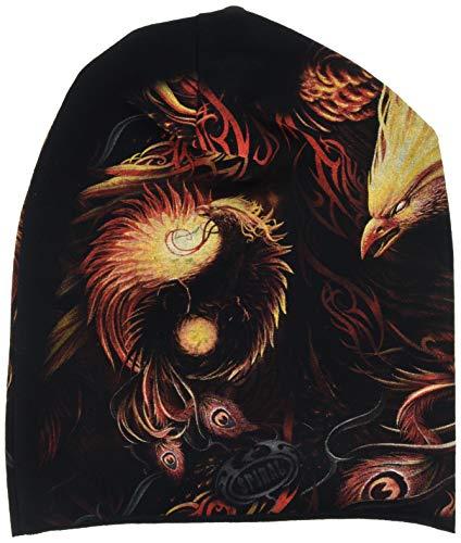 Spiral Direct Unisex Phoenix Arisen-Light Cotton Beanies Strickmütze, Schwarz (Black), One Size