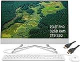2020 Premium HP 24 All-in-One Desktop Computer 23.8' FHD WLED Anti-Glare Display AMD Athlon Silver 3050U Processor 32GB RAM 2TB SSD Pop-Up Webcam DVD-Writer HDMI WiFi Win 10 + iCarpHDMI