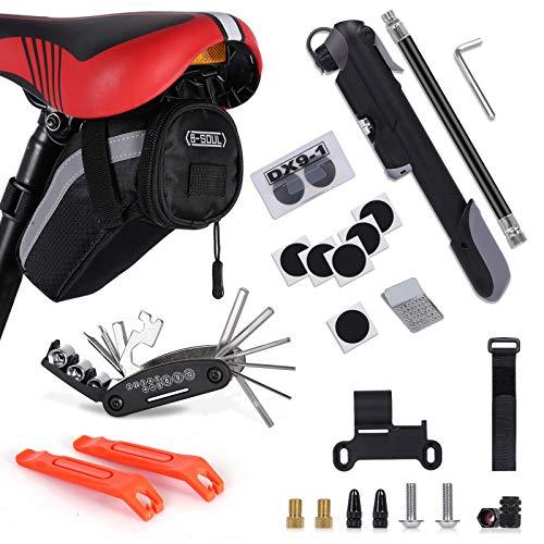 Bike Repair Kit, Bicycle-Tool-Set - with Saddle...
