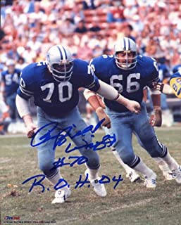 Rayfield Wright (HOF) Autographed/ Original Signed 8x10 Color Action with the Dallas Cowboys - He Inscribed His Number