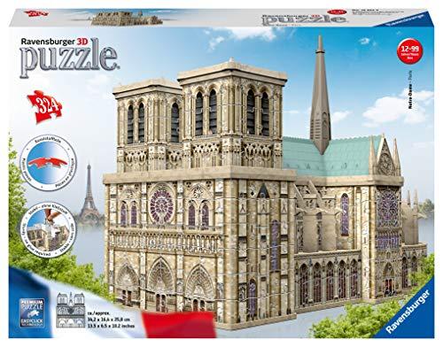 Ravensburger 125234 Puzzel Notre Dame Parijs 3D: 324 Stukjes