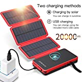 POWOBEST Solar Power Bank 20000mAh,Solar Charger,Qi Wireless Charger,Portable...