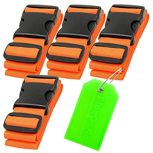 BlueCosto Luggage Suitcase Strap Belt Travel Accessories, 1-Pack, Orange
