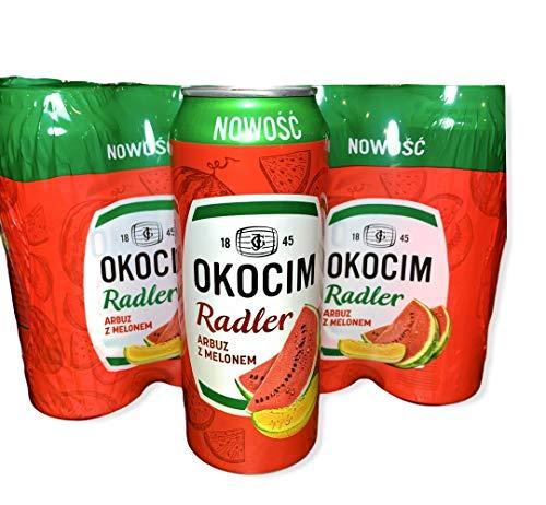 Große Dose 500ml! Okocim Radler Wassermelone Bier 8 Dosen im Paket