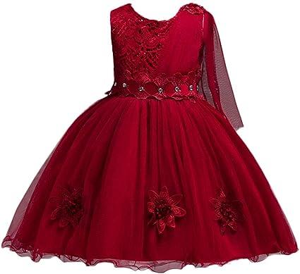 Baby Girls Flower Wedding Pageant Princess Bowknot Communion Party Tutu Dress