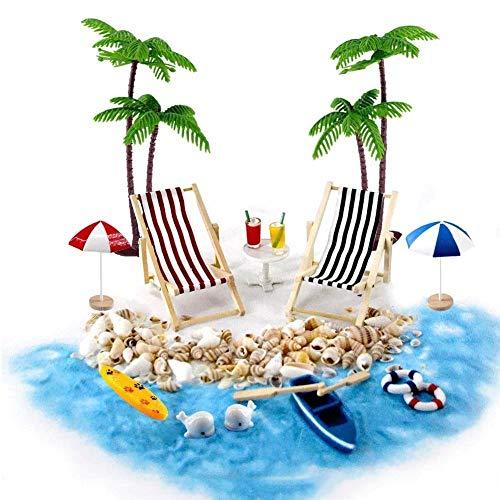 ACAMPTAR Beach Paisaje Playa Canasta Accesorios DecoracióN Hamaca, 18 Adornos Hadas para los Cuentos Bricolaje, JardíN