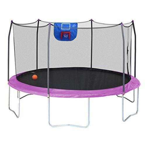 Skywalker Trampolines 15-Foot Jump N' Dunk Round Trampoline with...
