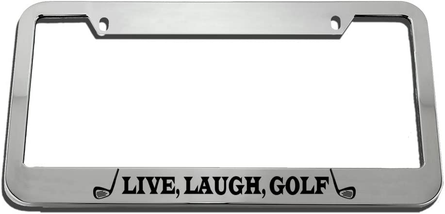 Speedy Pros Live Laugh Golf License Frame service T It is very popular Plate Motivational