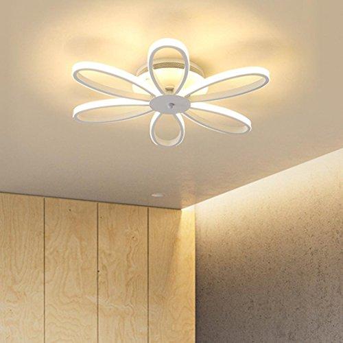 Créatif 6-Pétales Design Plafonnier Moderne LED Lampe de Plafond Intérieur Décoratif Éclairage Luminaire Métal Acrylique Lustres Pour Couloir Salon Chambre Balcon Couloir Bar Dimmable 60W