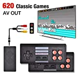 GSH Plug & Play wireless video game for kids ( 8 bit retro 620 built-in games ) for upto 2 players...