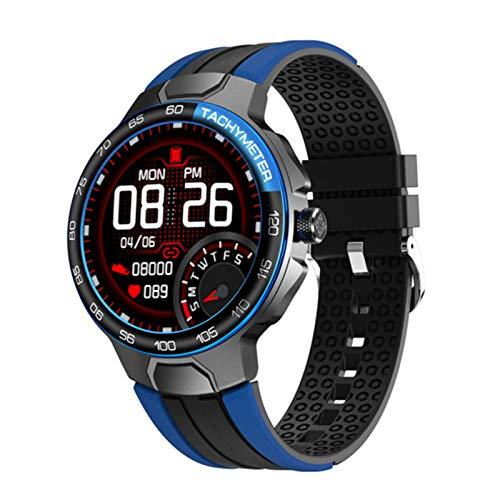 YZK Smart Watch Men's Sports Watch IP68 Impermeable GPS Seguimiento de la frecuencia cardíaca Tiempo Smartwatch,A