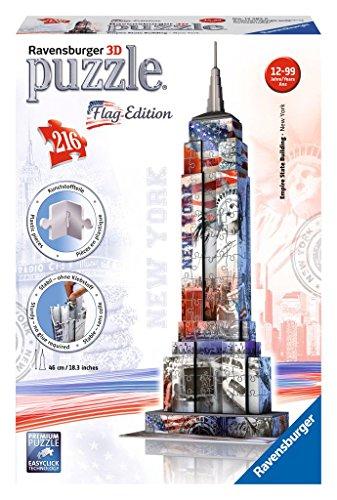 Ravensburger - 12583 - Puzzle 3D - Empire State Building Flag - 216 Pièces