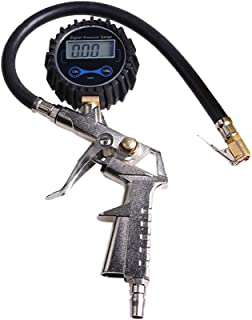 ZENAN Digital Tire Inflator with Pressure Gauge, 200 PSI Tire Pressure Gauge and Inflator with Hose and Quick Connect Plug