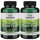 Swanson Full Spectrum Amla Fruit (Indian Gooseberry) 500 mg 120 Caps 2 Pack