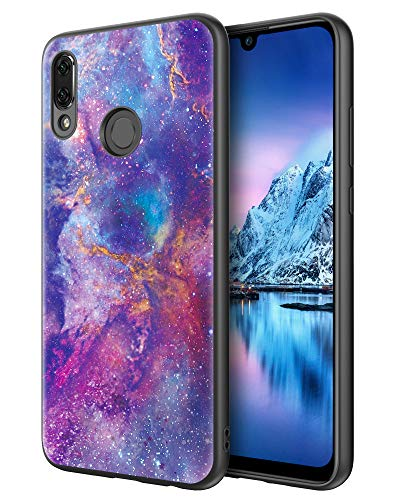 DOMAVER Huawei P Smart 2019 Hülle, Honor 10 Lite Hülle Nebula Design Slim Fit Leuchtend im Dunkeln Nebula Leichte Dünne rutschfeste Stoßstange Flexible TPU-Hülle für P Smart 2019- Nebel