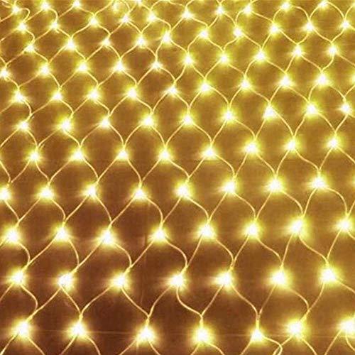 WLALLSS Cadena Luces Red Solar, 200LED 3m x 2m Cadena Luces solares para Exteriores Luces Cadena Navidad con 8 Modos Remoto Impermeable para jardín (cálido)