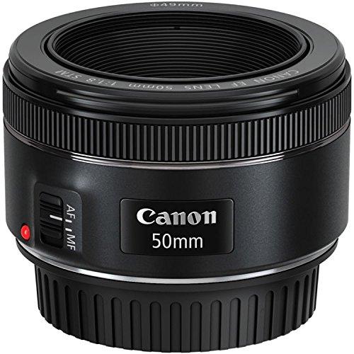 Canon EF 50mm f/1.8 STM Lens + 3pc Filter Kit + Lens Pen + Blower + Hood + Lens Pouch...