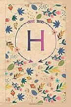 """Η: η Eta, Initial Monogram Greek Alphabet Letter Η Eta, Cute Cover, Lined Notebook/Journal Gift Idea, 100 Pages, 6""""x9"""" Lig..."""