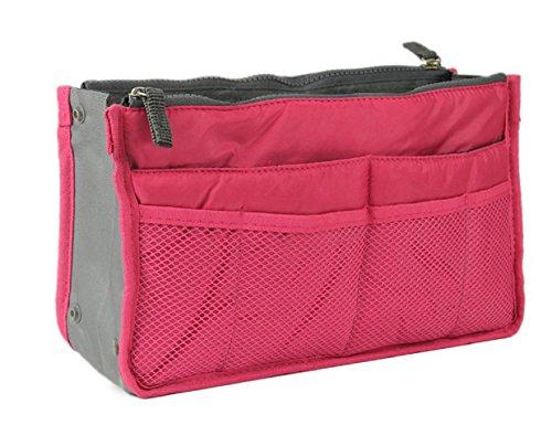 NOVAGO Handtaschenordner, Einlage, Einsatz 12 Taschen groß 28x17x8cm (Fuchsie)