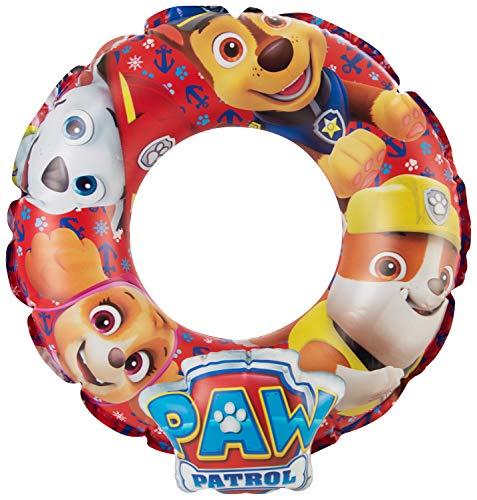 Paw patrol Nickelodeon Aufblasbarer Schwimmring für den Außenbereich, Pool-Schwimmer, Wasserspaß, Sommer-Strand-Spielzeug für Kinder, Mehrfarbig