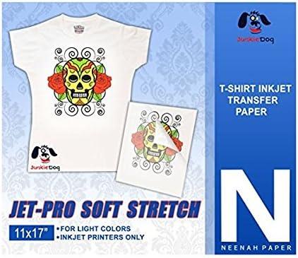 Jet Pro SS Soft Stretch Neenah Coldenhove Inkjet Heat Transfer Paper 11 x 17 25 Sheets