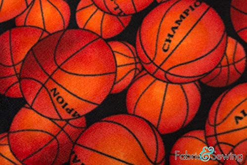 Basketball Anti-Pill Polar Fleece - Plush Fabric Polyester 13 Oz 58-60