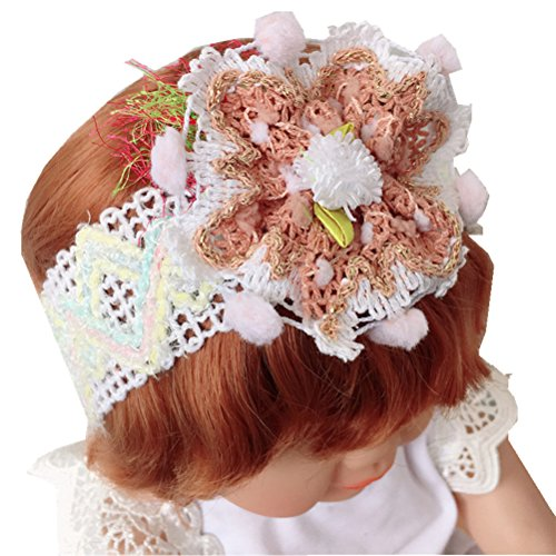 Cuhair 1 pcs Handband Big Sweet en dentelle Fleur Cheveux Hoops Bandeaux cheveux Accessoires Cheveux pour Enfants Bébé Fille