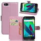 Qiaogle Teléfono Case - Funda de PU Cuero Billetera Clamshell Carcasa Cover para ZTE Blade A506 (5.2 Pulgadas) - FC08 / Pink Estilo