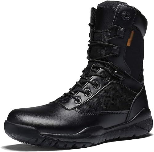 NDHSH Bottes Militaires pour Hommes Bottes de Grande Taille, Chaussures de randonnée, Chaussures de randonnée, Chaussures de randonnée, Chaussures de Sport