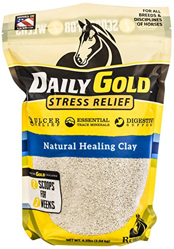 Redmond - Daily Gold Stress Relief   Natural Healing Clay for Gastric Ulcers in Horses, 4.5 lb. Pouch