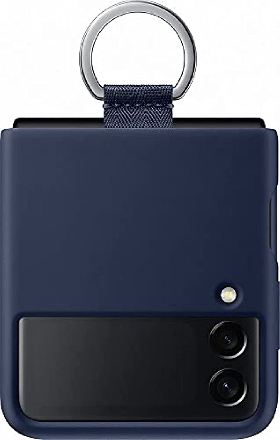 Samsung Galaxy Z Flip 3 Phone Case, Silicone Protective Cover with Strap, Heavy Duty, Shockproof Smartphone Protector, (Navy)