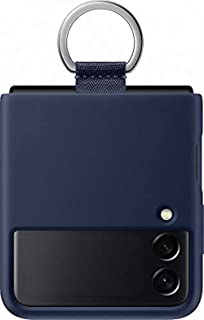 SAMSUNG PF711TNE Silicone Cover with Ring for Galaxy Flip 3, Navy (Naujas)