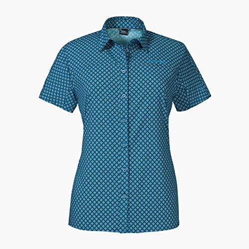 Schöffel Damen La Gomera1 Bluse, Blue Indigo, 48